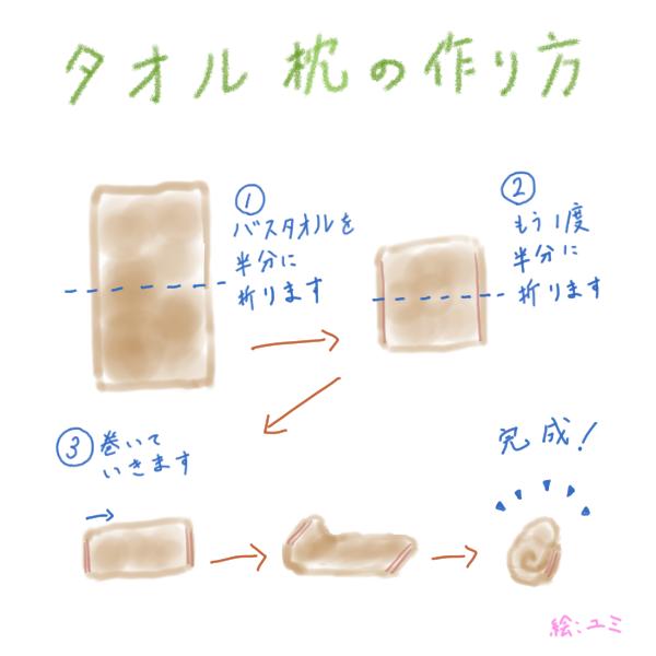 タオル枕の作り方